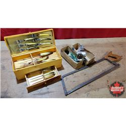 Meat Saw, Meat Grinder, Carving Set