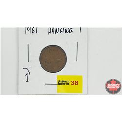 Canada One Cent - Error: 1961 Hanging 1