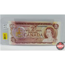 Canada $2 Bill 1974 S/N#AGA0895987 Lawson/Bouey