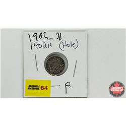 Canada Five Cent: 1902H (Hole)