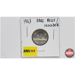 Canada Five Cent 1963 Bare Belly Shoulder