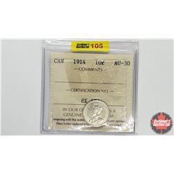 Canada Ten Cent: 1914 (ICCS Cert AU-50)
