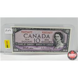 Canada $10 Bill 1954 S/N#MT3373477