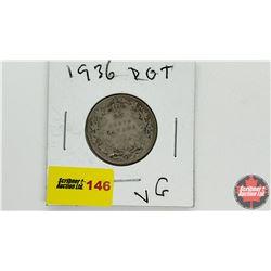 Canada Twenty Five Cent: 1936 Dot