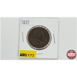 Province du bas Canada Un Sou Bank Token Half Penny 1837