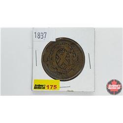 Province du bas Canada Un Sou Bank Token One Penny 1837