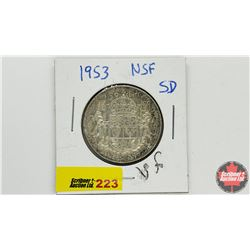 Canada Fifty Cent: 1953 NSF SD
