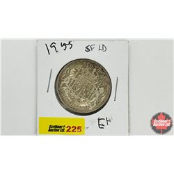 Canada Fifty Cent: 1955 SFLD