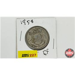 Canada Fifty Cent: 1958