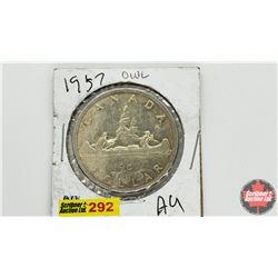 Canada Silver Dollar: 1957OWL