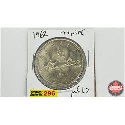 Canada Silver Dollar: 1962