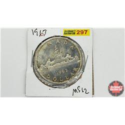 Canada Silver Dollar: 1963