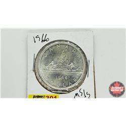 Canada Silver Dollar: 1966