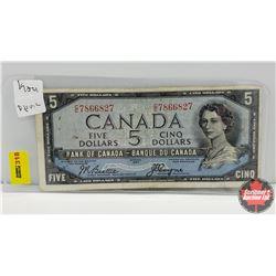 Canada $5 Bill 1954DF : S/N#CC7866827 Beattie/Coyne