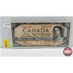 Canada $50 Bill 1954DF : S/N#AH0195348 Coyne/Towers