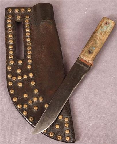 Blackfoot Indian Tacked Knife Case