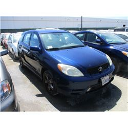 TOYOTA MATRIX 2003 T-DONATION