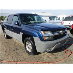 CHEVROLET AVALANCHE 2002 T