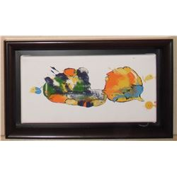 LangdonArt children & adult story of birds, fish, clowns in 2 landscapes by same painting-2 paysages