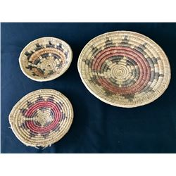 Group of Three Navajo Baskets