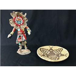 Hopi Kachinas and Basket