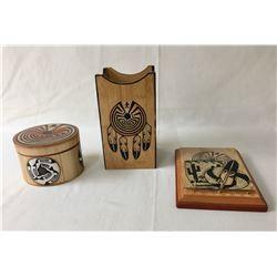 Group of Handmade Hopi Items by John David Sr.