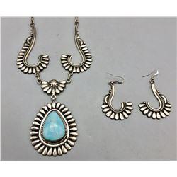 Unique Turquoise Necklace Set