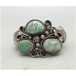 Vintage Three Stone Turquoise Bracelet
