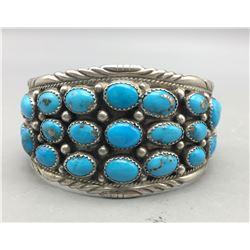 *SOLD* Turquoise Cluster Bracelet