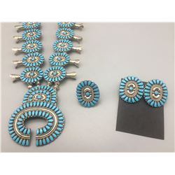 Turquoise Squash Blossom Necklace Set *SOLD*