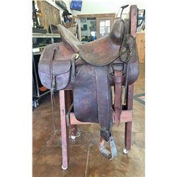 Antique High Back Saddle - Tom Flynn
