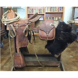 Antique Kids Saddle with Accessories