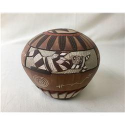 Hopi Pot by Lawrence Namoki
