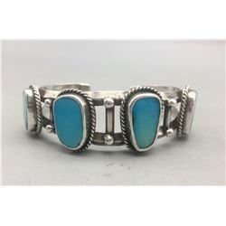Vintage Four Stone Turquoise Bracelet