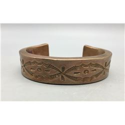 Heavy, Hand Forged Copper Bracelet