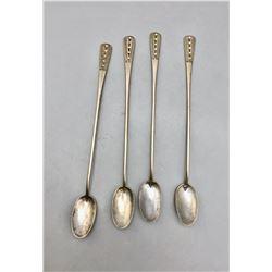 4 Old Handmade Navajo Spoons