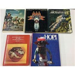 Group of Five Hardback Books on Native Americana