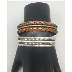 Vintage Copper and Sterling Silver Bracelets