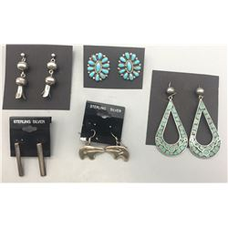 Five Pairs of Earrings