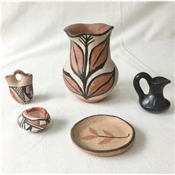 Group of Five Pueblo Pots