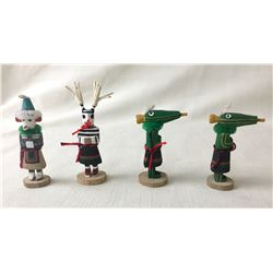 Group of Four Miniature Hopi Kachinas