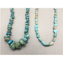 Two Chunky Turquoise Necklaces
