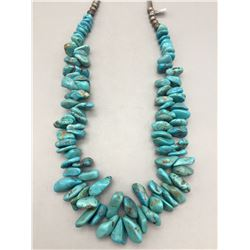 Hefty, Chunky Turquoise Necklace