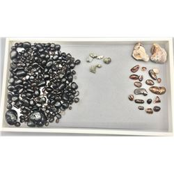Apache Tears, Fire Agates and Pyrite