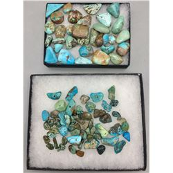 Miscellaneous Turquoise Cabochons and Beads
