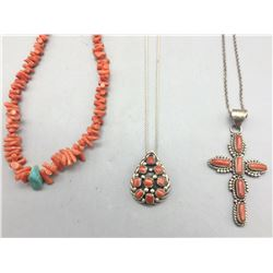 Group of Coral Necklaces