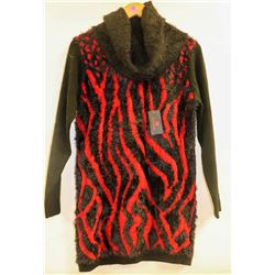 BESCA RED AND BLACK LONG SLEEVE WOMENS