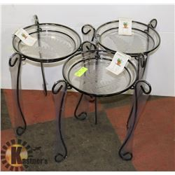 LOT OF 3 NEW PLANTER STANDS