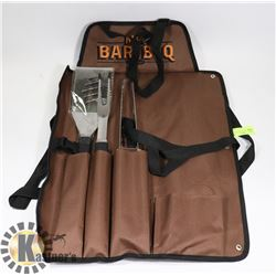 ROLL-UP CANVAS BBQ APRON - COMPLETE