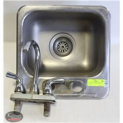 """11-1/2"""" X 9"""" S/S RINSING SINK W/ FAUCET"""
